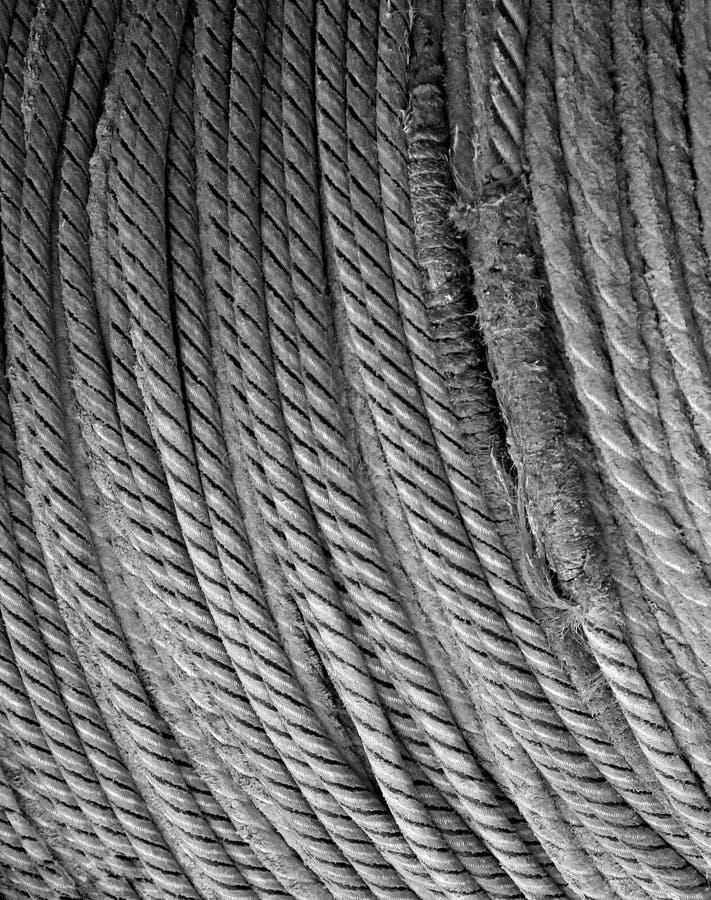 Détail enroulé de corde image libre de droits