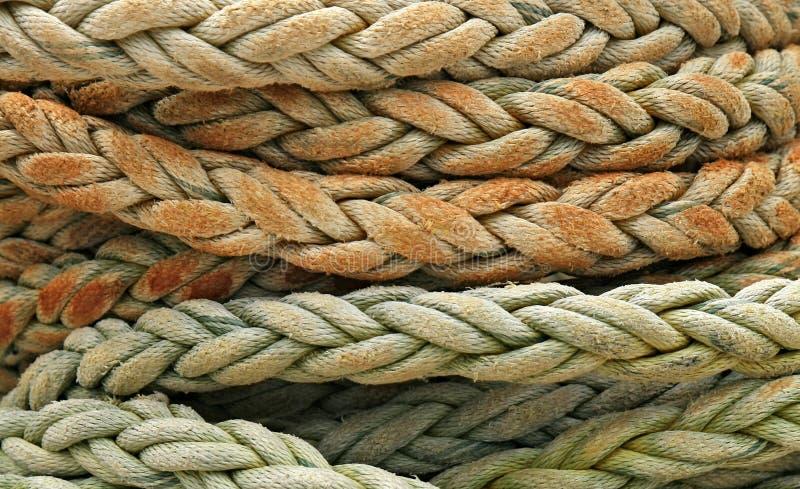 Détail enroulé de corde photographie stock