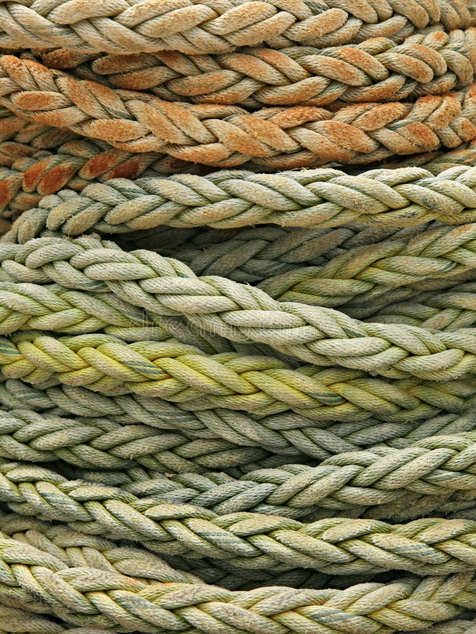 Détail enroulé de corde photo libre de droits