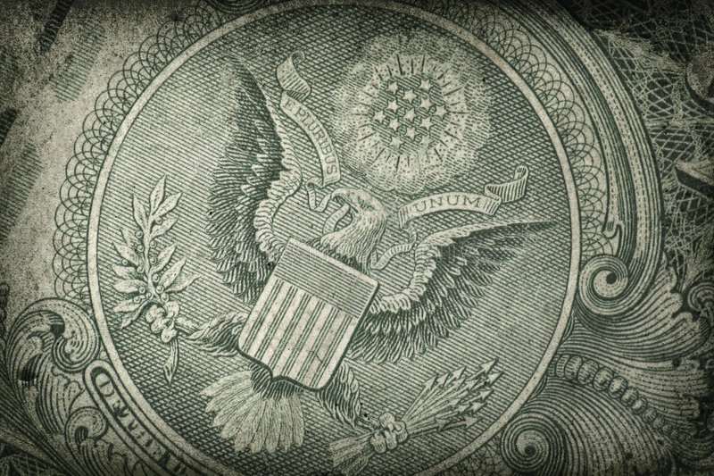 Détail grunge de dollar US