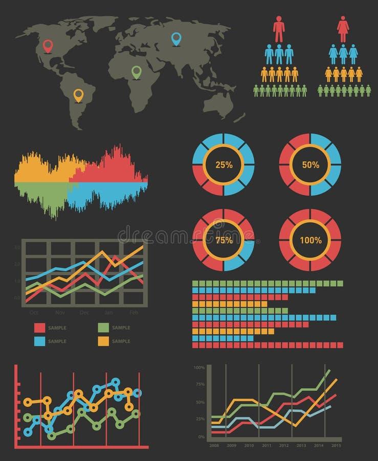Détail infographic. Graphiques de carte du monde photographie stock libre de droits