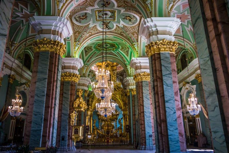 Détail intérieur Peter et Paul Cathedral Russia photographie stock
