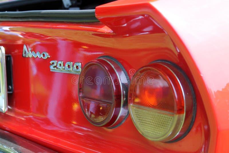 Détail italien d'arrière de voiture de sport image stock