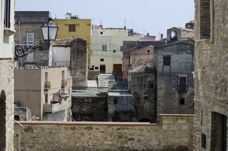 Détail médiéval d'extérieur de rues de vieille ville photo stock