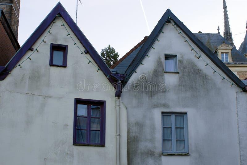 Détail médiéval traditionnel de maisons photographie stock libre de droits