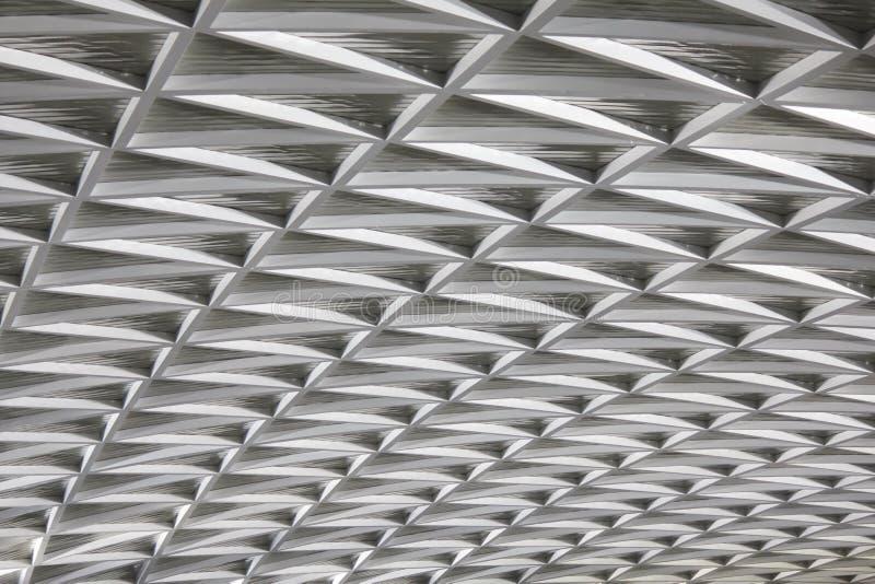 Détail moderne de plafond d'architecture de ville images libres de droits