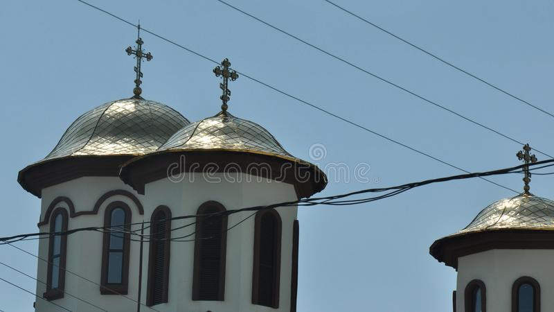 Détail orthodoxe roumain de monastère photo stock