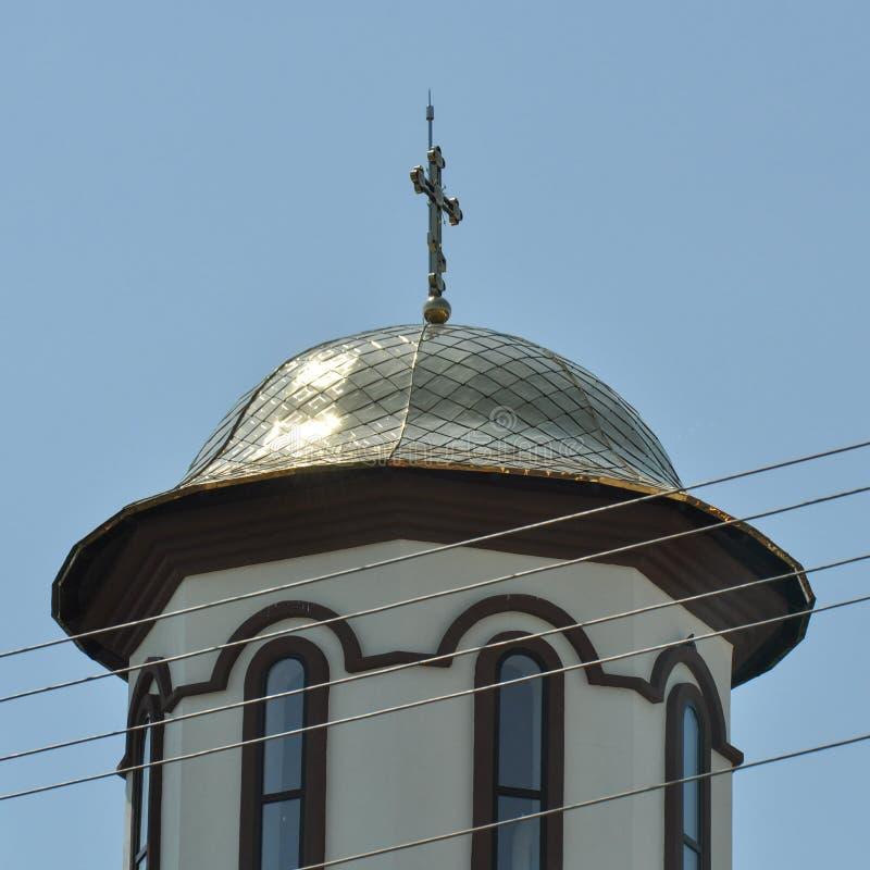 Détail orthodoxe roumain de monastère photographie stock