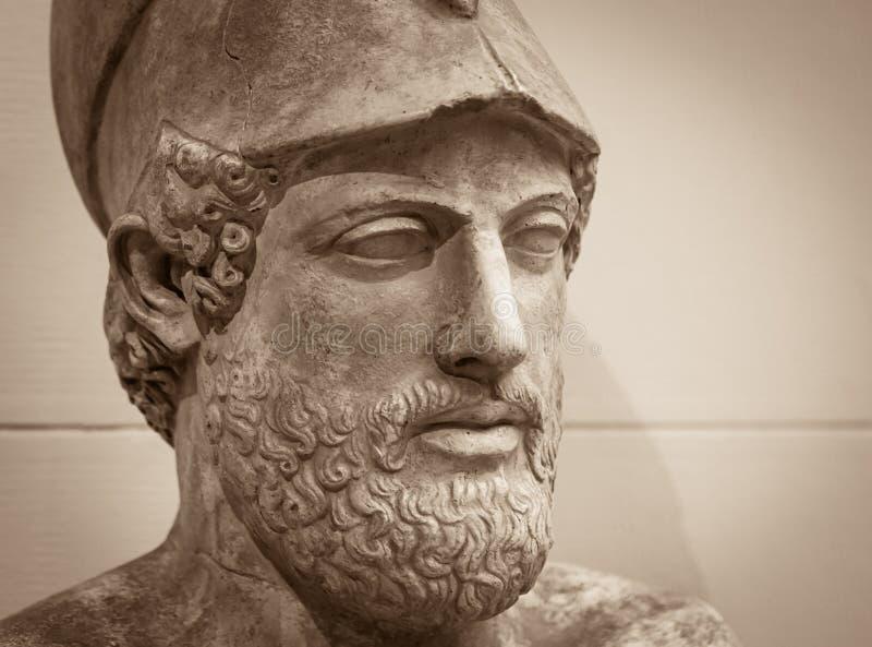 Détail principal et d'épaules de la sculpture antique photos libres de droits