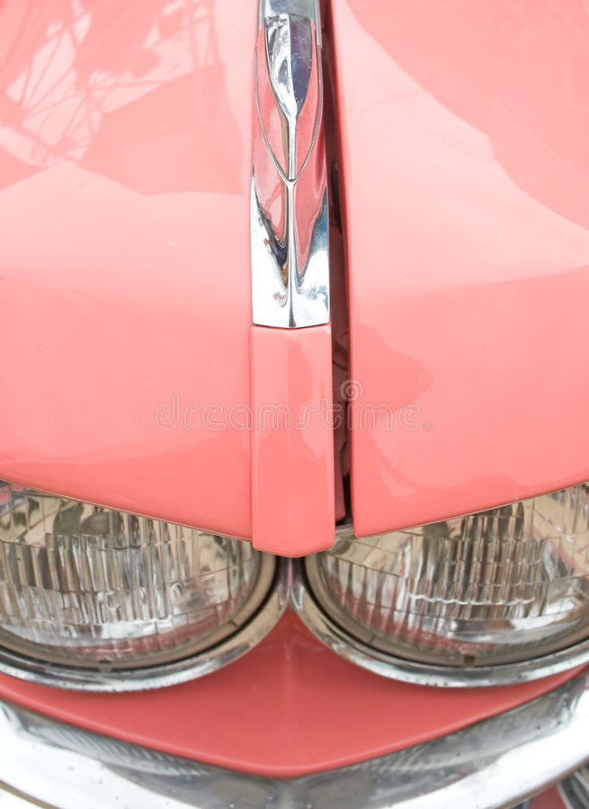 Détail rose de véhicule d'années '60 images stock