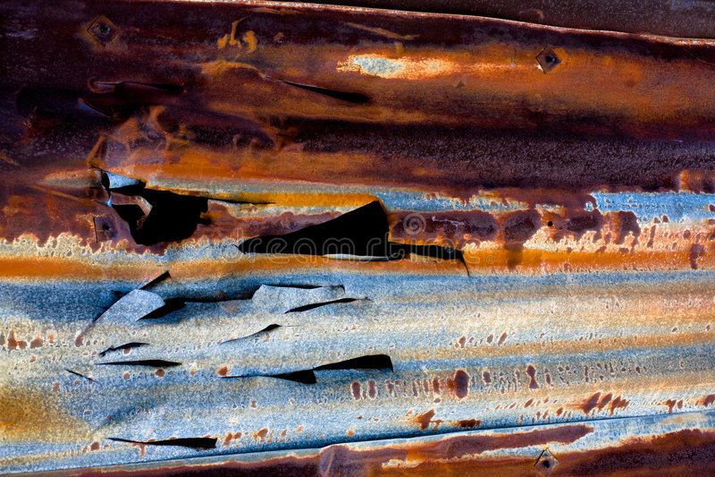 Détail rouillé en métal photographie stock