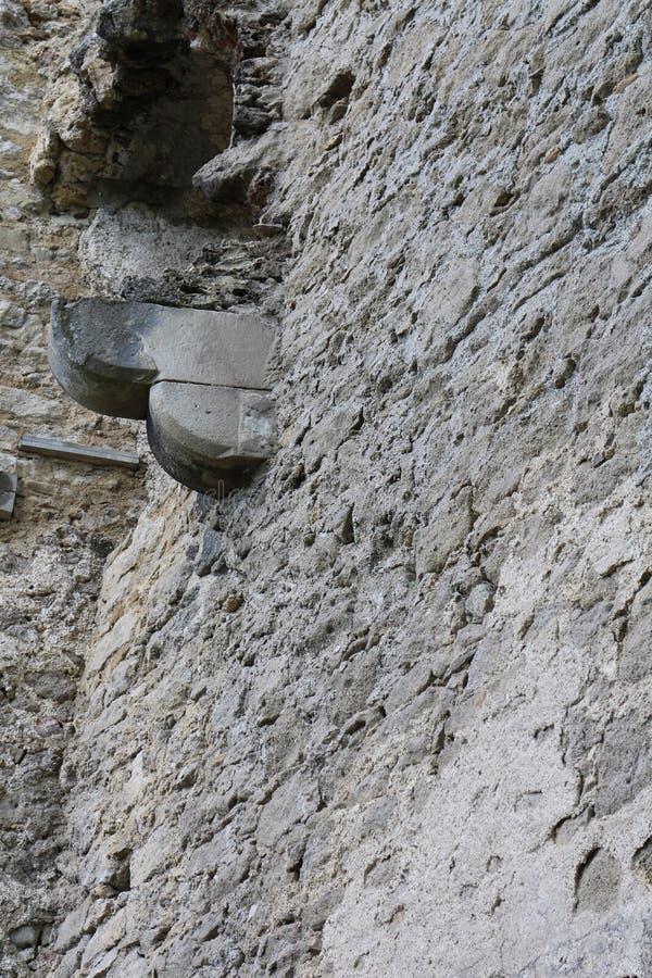 Détail sur le château de Lietava, secteur de Zilina photo libre de droits
