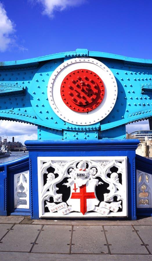 Détail sur le pont de tour de Londres images libres de droits