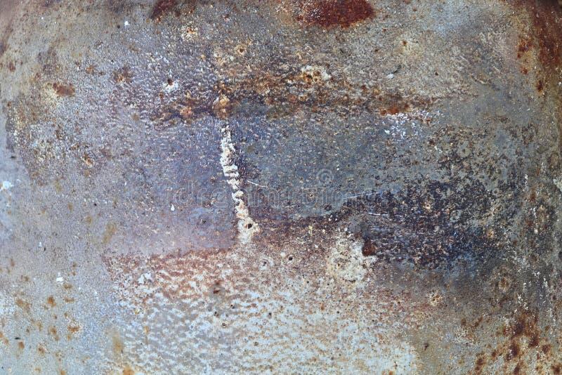 Détaillé étroitement vers le haut de la surface du métal et de l'acier rouillés avec un bon nombre de corrosion dans la haute rés images libres de droits