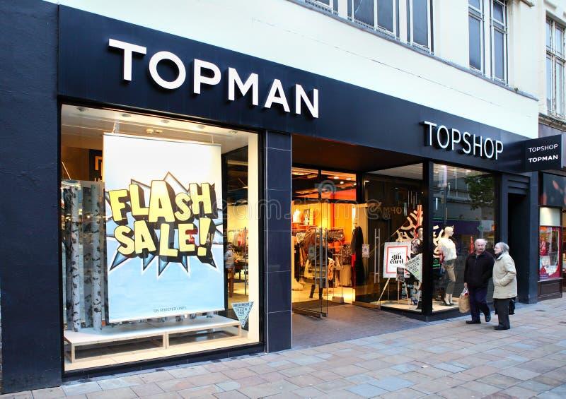 Détaillant Topman de mode photos libres de droits