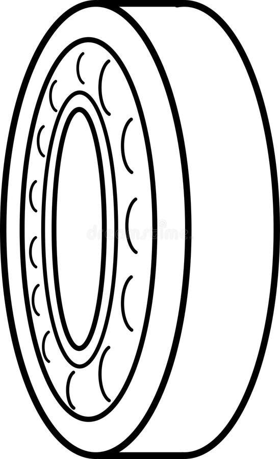 Détaille le rotor l'incidence - industrie mécanique lourde illustration stock