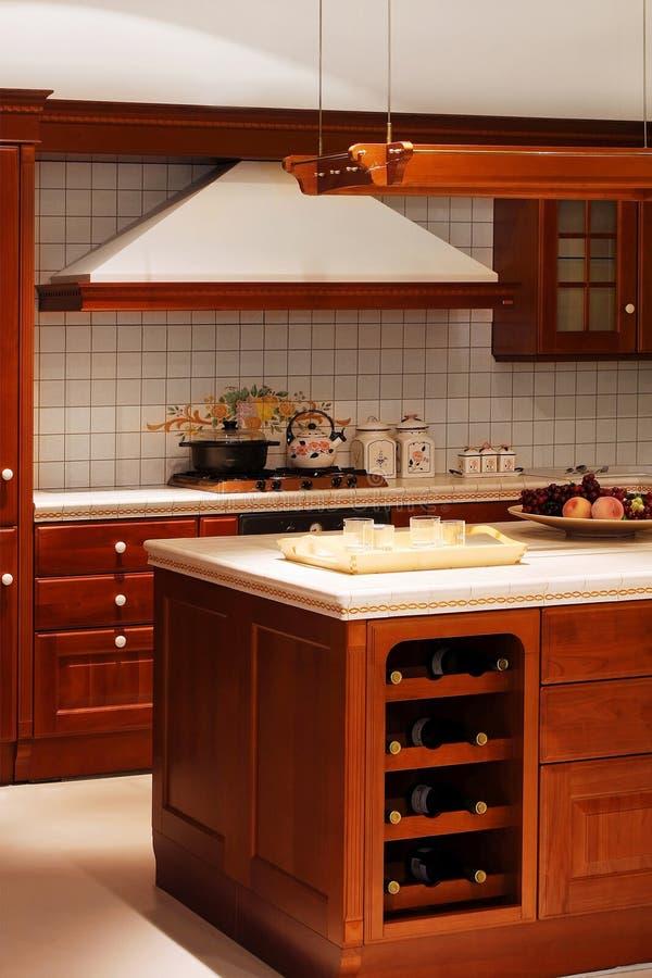 détaillez la cuisine en bois photos stock