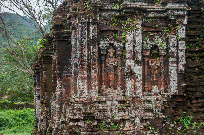 Détails à mon sanctuaire de fils, Vietnam photo libre de droits