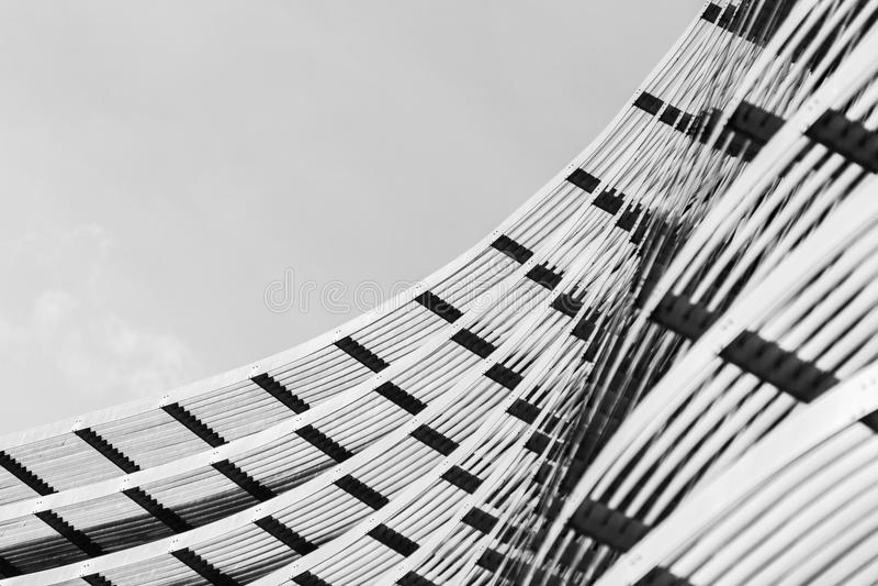 Détails abstraits de construction d'un gratte-ciel moderne photos stock