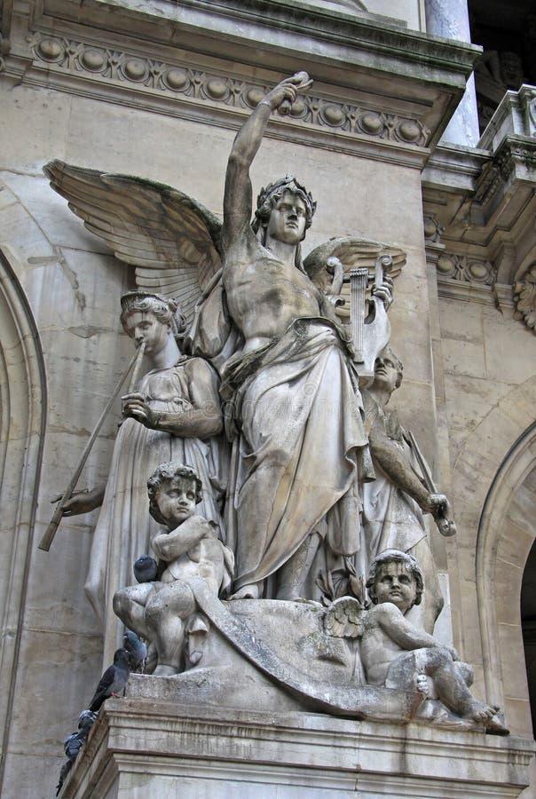 Détails architecturaux de l'opéra De national Paris - grand opéra, Paris, France images libres de droits