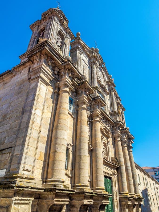 Détails architecturaux du centre historique de Pontevedra La Galicie, Espagne images stock