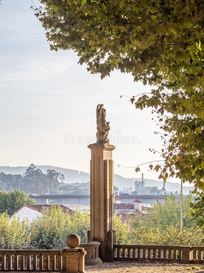 Détails architecturaux du centre historique de Pontevedra La Galicie, Espagne photo stock