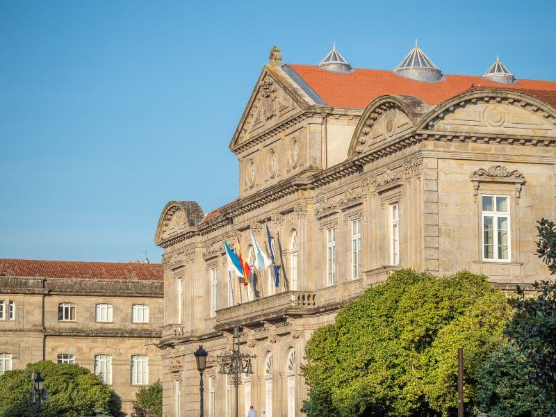 Détails architecturaux du centre historique de Pontevedra La Galicie, Espagne photo libre de droits