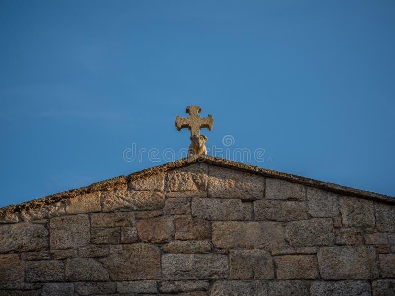 Détails architecturaux du centre historique de Pontevedra La Galicie, Espagne image stock