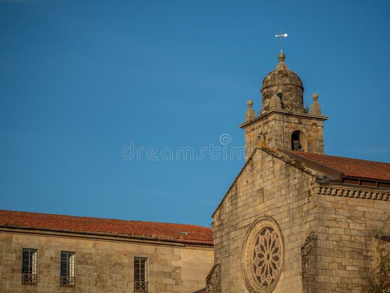 Détails architecturaux du centre historique de Pontevedra La Galicie, Espagne photographie stock libre de droits