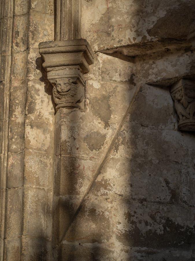 Détails architecturaux du centre historique de Pontevedra La Galicie, Espagne photos libres de droits