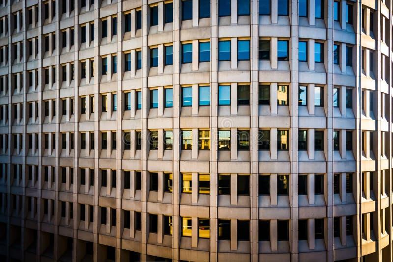 Détails architecturaux du downto rentré par bâtiment de Brandywine photos stock