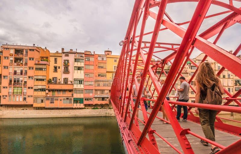 Détails architecturaux - pont à Gérone - en Catalogne, non seulement Barcelone images stock