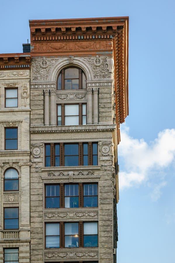 Détails architecturaux sur le bâtiment de Soho, Manhattan, New York image stock