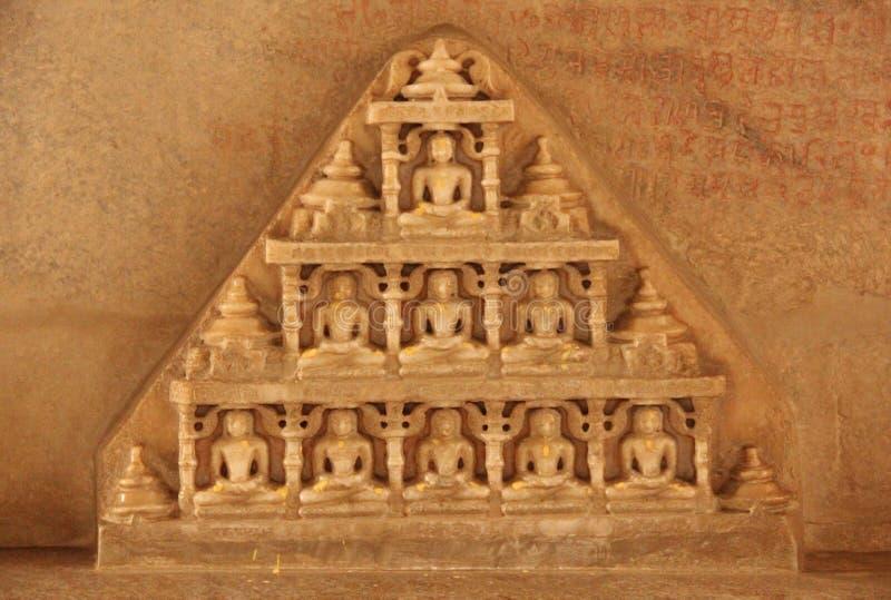 Détails au temple de Ranakpur photographie stock