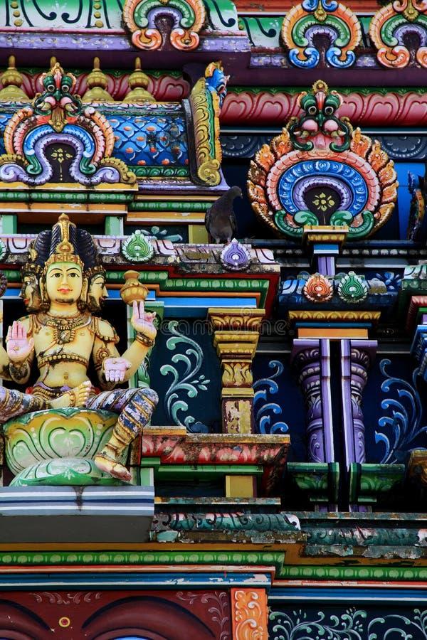 Détails complexes dans des murs extérieurs de Sri Siva Subramaniya Temple, Fidji, 2015 photos libres de droits