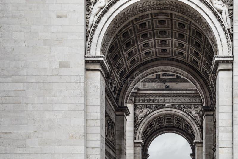 Détails d'architecture d'Arc de Triomphe Paris photos libres de droits