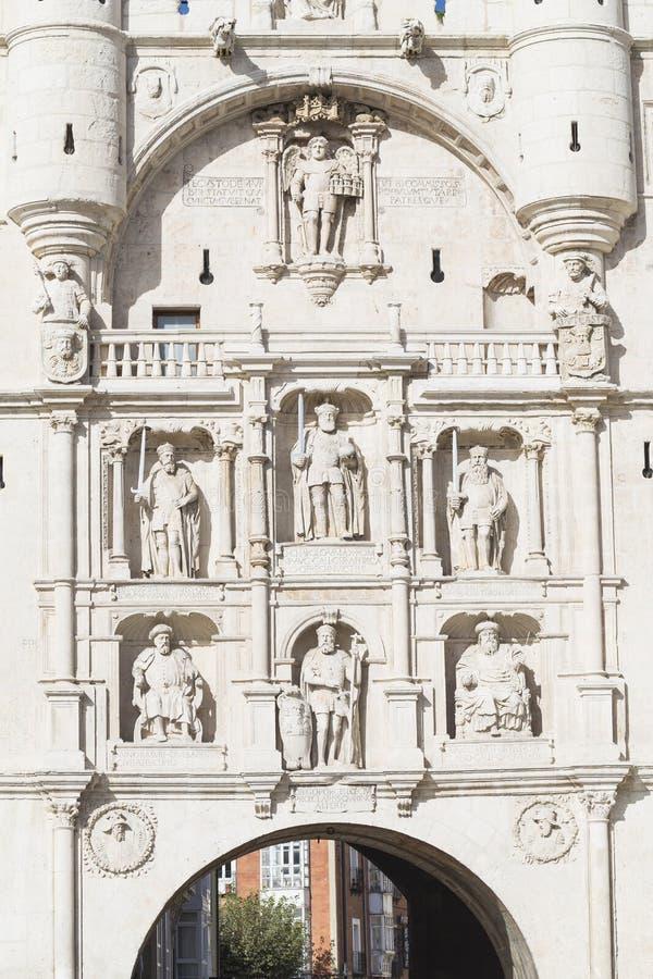 Détails d'Arco De Santa Maria, Burgos photographie stock