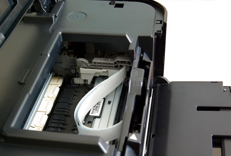 Détails d'imprimante à jet d'encre photos stock