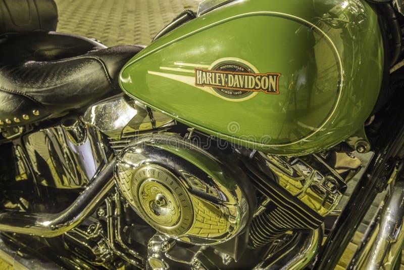 Détails d'une moto Harley Davidson classique image libre de droits