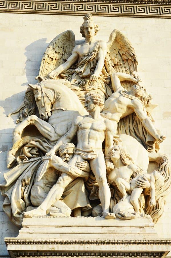 Détails dans Arc de Triomphe Paris images libres de droits