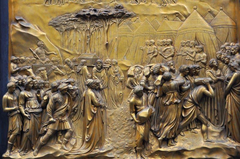 Détails de baptistère de Florence, Italie   images libres de droits