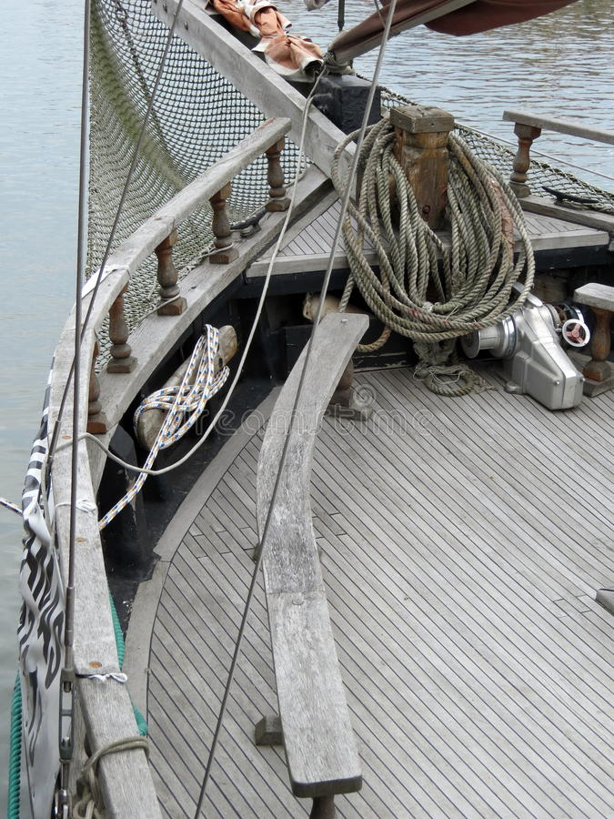 Détails de bateau de navigation photo libre de droits