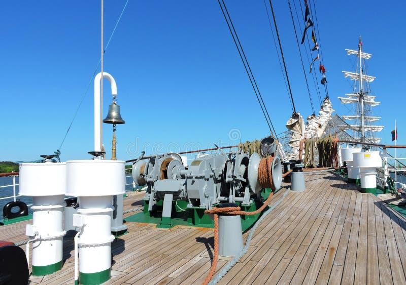Détails de bateau de navigation photographie stock