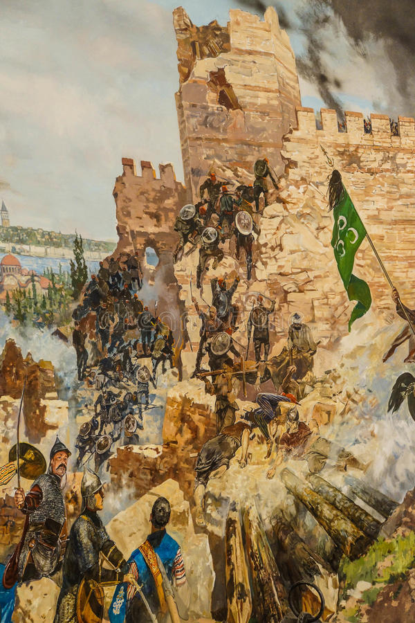 Détails de l'assaut final de Constantinople image libre de droits