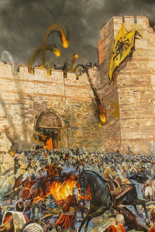 Détails de l'assaut final de Constantinople image stock