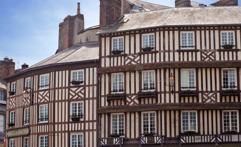 Détails de maison à colombage type en Normandie image stock