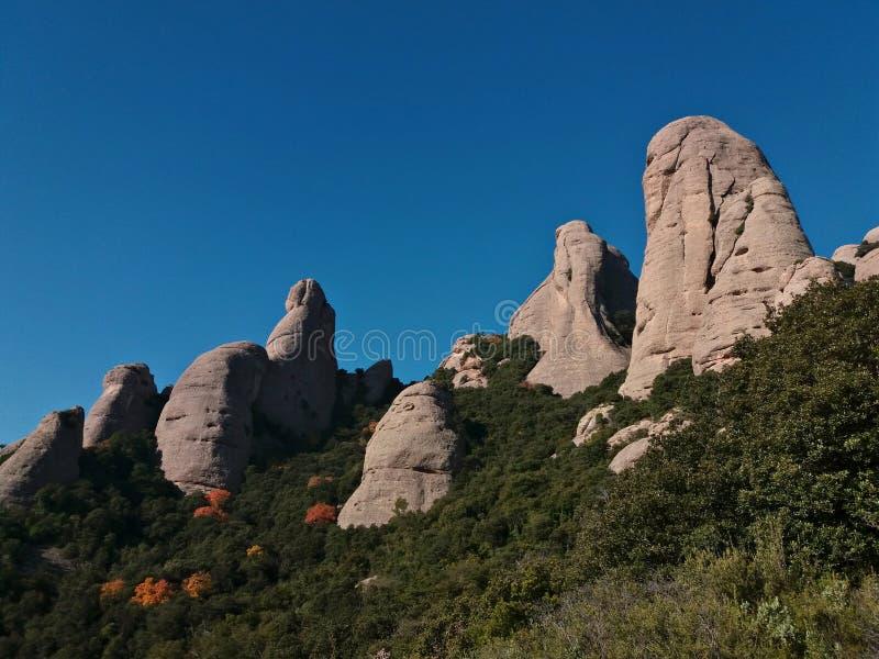 Détails de montagnes de Montserrat images libres de droits