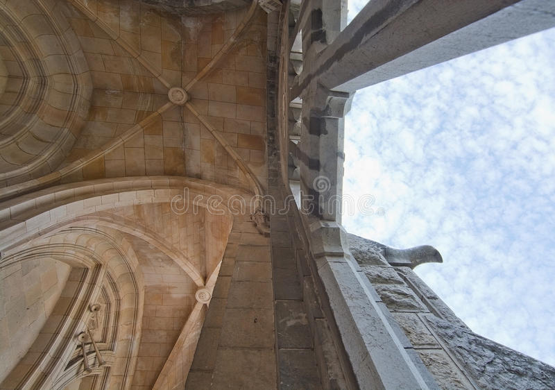 Détails de plan rapproché d'église de Soller photographie stock libre de droits