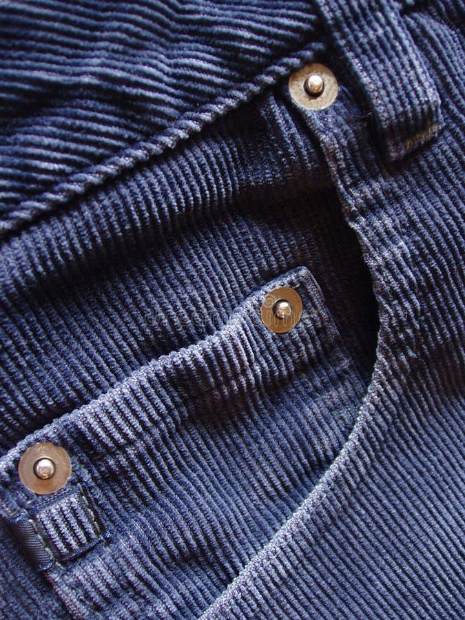 Détails de poche sur les cordons bleus photo stock