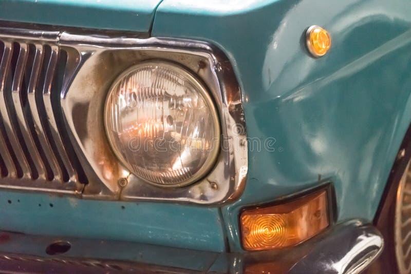 Détails de rétro voiture Volga Industrie automobile soviétique photographie stock